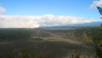 Kilauea Iki caldera, Hawaii Volcanoes National Park, by Volcano Village Hawaii